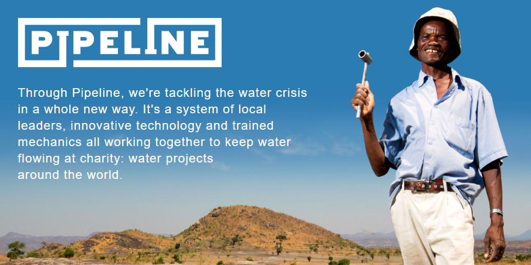 pipeline charity water